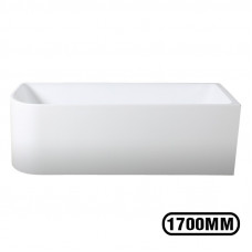 1700x750x580mm Corner Bathtub Right Corner Back to Wall Acrylic  White Bath Tub