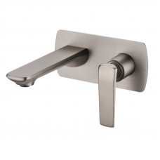 Esperia Brushed Nickel Bathtub Spout Basin Spout Wall Mixer With Spout..