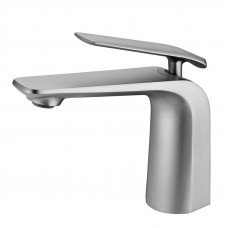 Esperia Brushed Nickel Basin Mixer Tap Short Bathroom Tap Brass