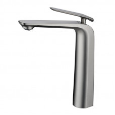 Esperia Brushed Nickel Tall Basin Mixer Bench Top Solid Brass