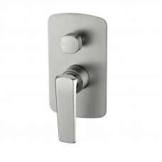 Esperia Brushed Nickel Solid Brass Shower/Bath Mixer with Diverter Wall Mounted