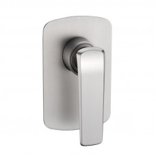 Esperia Brushed Nickel Solid Brass Shower/Bath Wall Mixer Wall Mounted