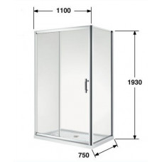 750*1100*1930mm Sliding door Rectangle Shower Box
