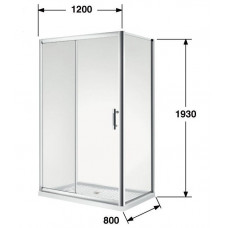 800*1200*1930mm Sliding door Rectangle Shower Box