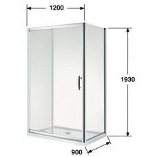 900*1200*1930mm Sliding door Rectangle Shower Box