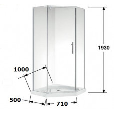 1000*1000*1930mm Swing Door Diamond Shower Box