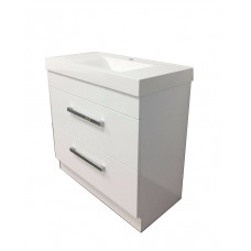 900mm 2 drawers  Freestanding Vanity Units Cabinet Single Polymarble Top Basin Unit Soft Close