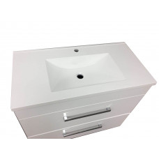 900mm 2 drawers Freestanding Bathroom Vanity Units Cabinet Single Polymarble Top Basin Unit