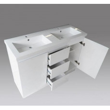 1200*450*860mm White MDF Vanity with Ceramic Top Freestanding