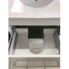 900*460*850mm White MDF Vanity with Ceramic Top Freestanding