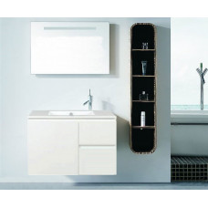 730*440*530mm White MDF Vanity with Ceramic Top Wall Hung