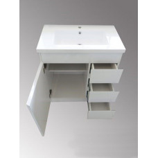 750*460*870mm White MDF Vanity with Ceramic Top Freestanding