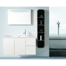 910*460*530mm White MDF Vanity with Ceramic Top Wall Hung