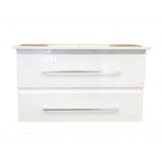 900*460*550mm White MDF Vanity with Ceramic Top Wall Hung