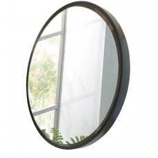 600mm Mirror Black Frame Mirror