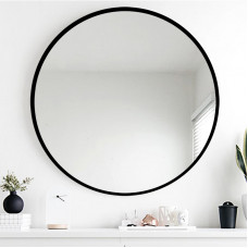 800mm Mirror Black Frame Mirror