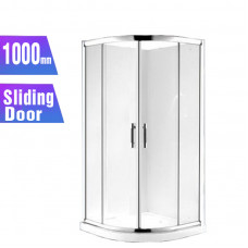 1000*1000*1830mm 2-Panel Sliding door Round Shower Box