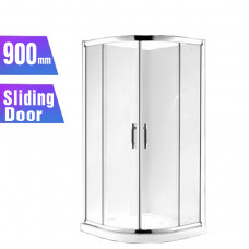 900*900*1900mm 2-Panel Sliding door Round Shower Box