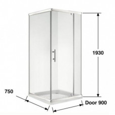 750*900*1930mm Swing door Square Shower Box