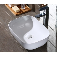 485x395x145mm Above Counter Square White Ceramic Basin Counter Top Was..