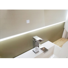 900x900mm Square Shape LED Mirror Demister with Acrylic Frame