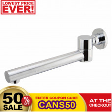Euro Round Chrome Bathtub/Basin Swivel Wall Spouts Tapware Bathtub Fau..