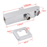 Ottimo Chrome Bathtub/Basin Wall Spout with diverter