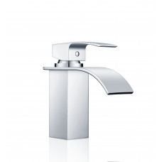 Omar Chrome Waterfall Bathroom Basin Mixer Taps