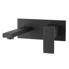 Ottimo/Omar Nero Black Bathtub/Basin Wall Mixer With Spouts Tapware Ba..