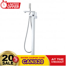 Ottimo Chrome Freestanding Bath Mixer Taps With Hand held Shower Tapwa..