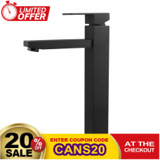Ottimo Nero Black Tall Basin Mixer Tap Black Taps Tall Tapware