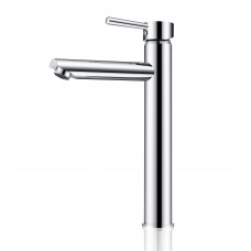 Euro Round Chrome Tall Basin Mixer Taps Tall Tapware