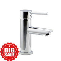 Euro Round Chrome Bathroom Basin Mixer Taps