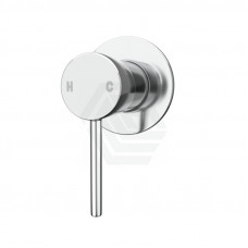 Euro 80mm Polished Chrome Solid Brass Wall Mixer for Bathtub and Basin