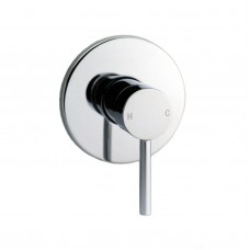 Euro Round Chrome Shower/Bath Wall Pin Mixers
