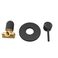 Euro Round Nero Black Shower/Bath Wall Pin Mixe..