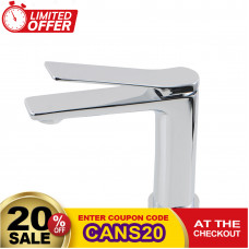 Rumia Chrome Basin Mixer Bathroom Hot & Cold Tap
