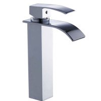 Omar Chrome Waterfall Tall Basin Mixer