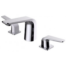 Masa Chrome Bathroom Basin Mixer Tapware Three Hole Bathtub Faucet