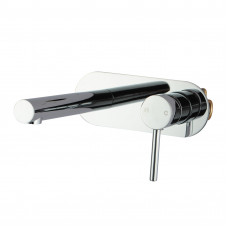 Euro Round Chrome Bathtub/Basin Wall Mixer With Spout