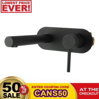 Euro Matt Black Round Bathtub/Basin Wall Mixer ..