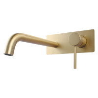 Round Brushed Yellow Gold Bathtub Spout Basin S..
