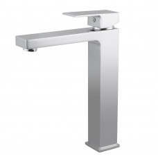 Ottimo Solid Brass Square Chrome Tall Basin Mixer Tap Vanity Tap Bench..