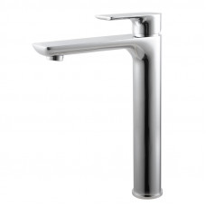 Solid Brass Chrome Tall Basin Mixer Tap Bathroom Basin Tap