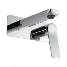 Chrome Bathtub Basin Wall Mixer With Spout Solid Brass Watermark