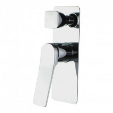 Chrome Shower Wall Mixer With Diverter