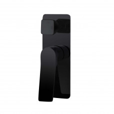 Rumia Shower Wall Mixer With Diverter Matt Black