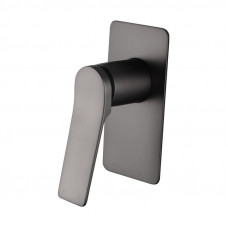 Rumia Brushed Gunmetal Grey Bath/Shower Wall Mixer