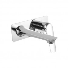 Chrome Wall Mounted Bathtub/Basin Wall Mixer With Spout Tap