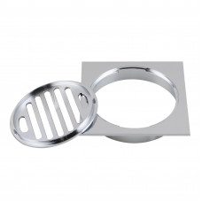 110x110mm Square Chrome Brass Floor Waste Shower Grate Drain Outlet 10..